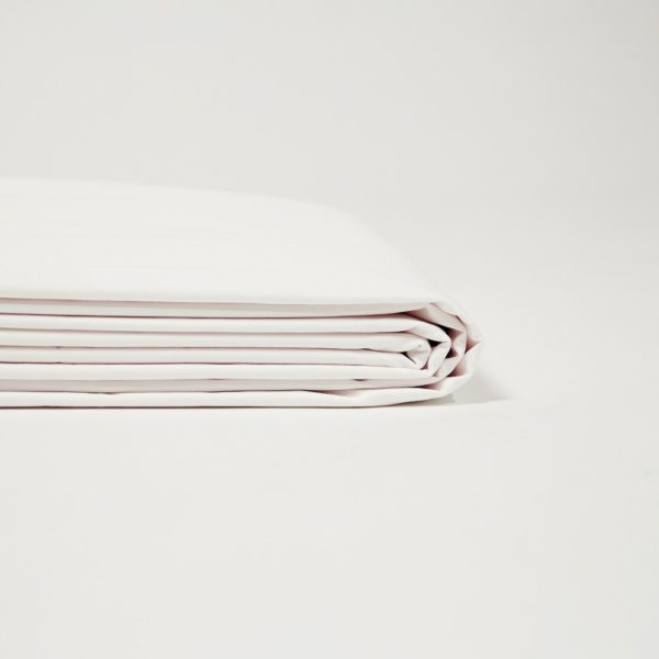 Drap housse percale de coton blanc 2 – Maison Lys