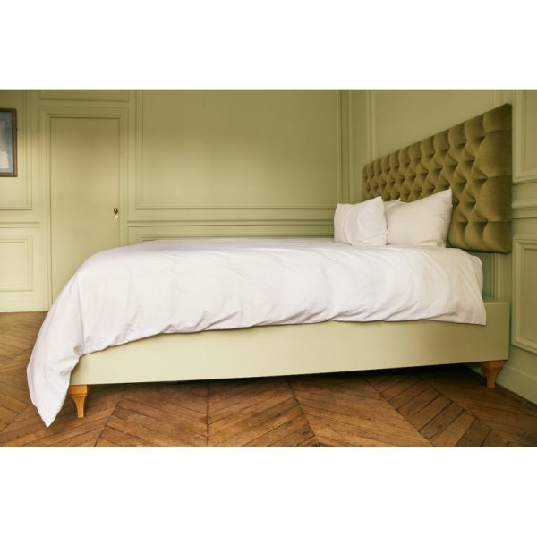 Parure de lit percale de coton blanc 120 fils - Maison Lys (2)