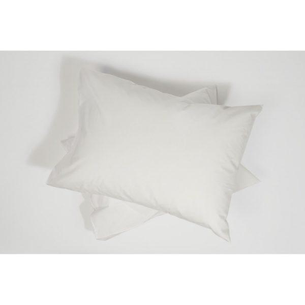 Taie d'oreiller percale de coton blanc 3 - Maison Lys