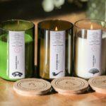 Bougie écologique artisanale upcyclée - Septembre 2