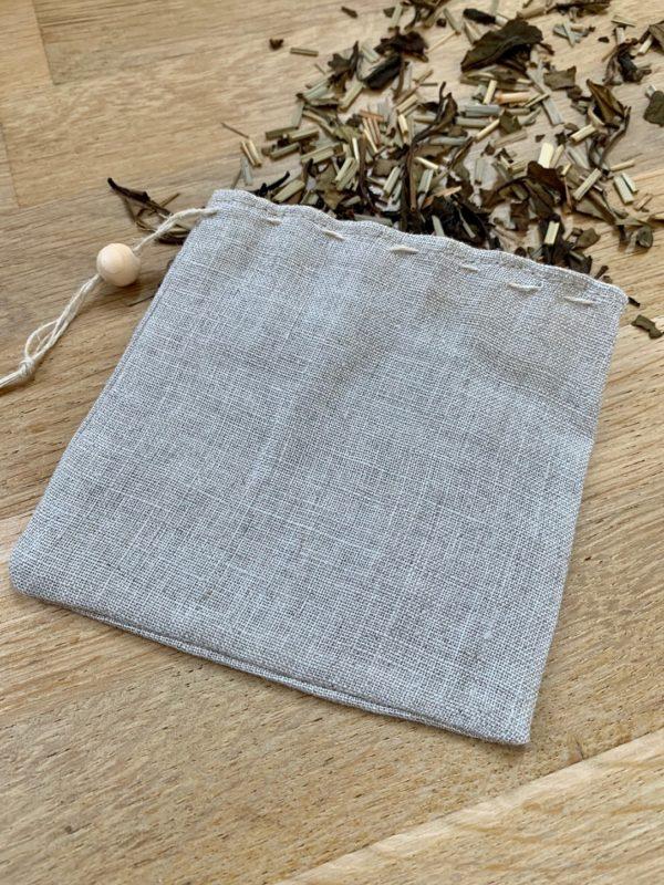 Filtre à thé réutilisable en voile de lin bio 3 - Alterosac