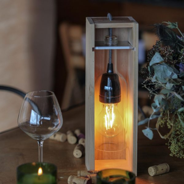 Lampe bouteille de vin artisanale Jane 2 - Septembres