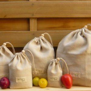 Set de sacs en lin bio 5 - Alterosac