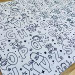 Set de table à colorier lavable et réutilisable 2 - Alterosac