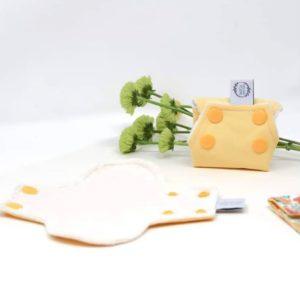 Protège slip lavable en coton biologique - Marcia Créations