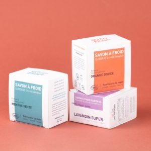 Savon surgras bio à froid parfumé 90g 1 - Atelier Populaire