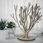 Arbre à bijoux en bois décoratif Ambitieux - Edobois 4