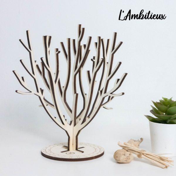 Arbre à bijoux en bois décoratif - Edobois Ambitieux