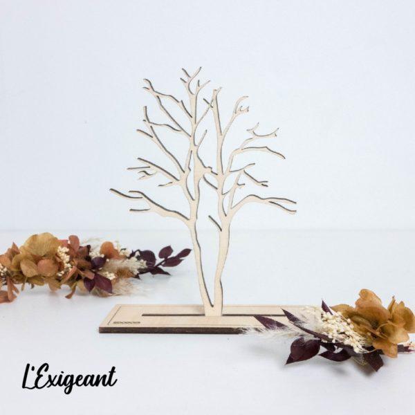 Arbre à bijoux en bois décoratif - Edobois Exigeant