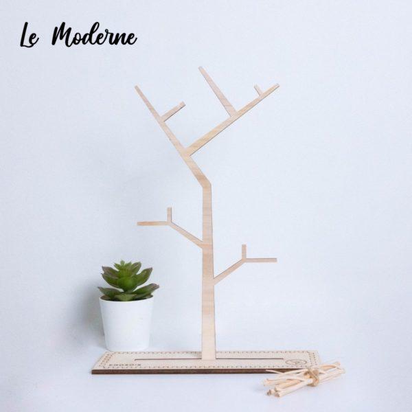 Arbre à bijoux en bois décoratif - Edobois Le Moderne