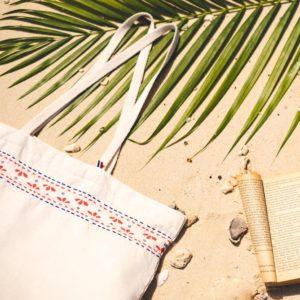Cabas de plage en coton recyclé 2 - Cottesea