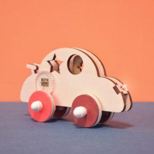 Coccinelle- Voiture électrique à construire éco-conçue pour enfant Vroom - Kutì Kutì