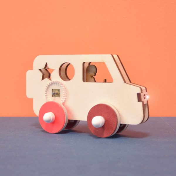 Van - Voiture électrique à construire éco-conçue pour enfant Vroom - Kutì Kutì