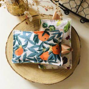 Éponge lavable écologique - Anna et Jade Orange 1