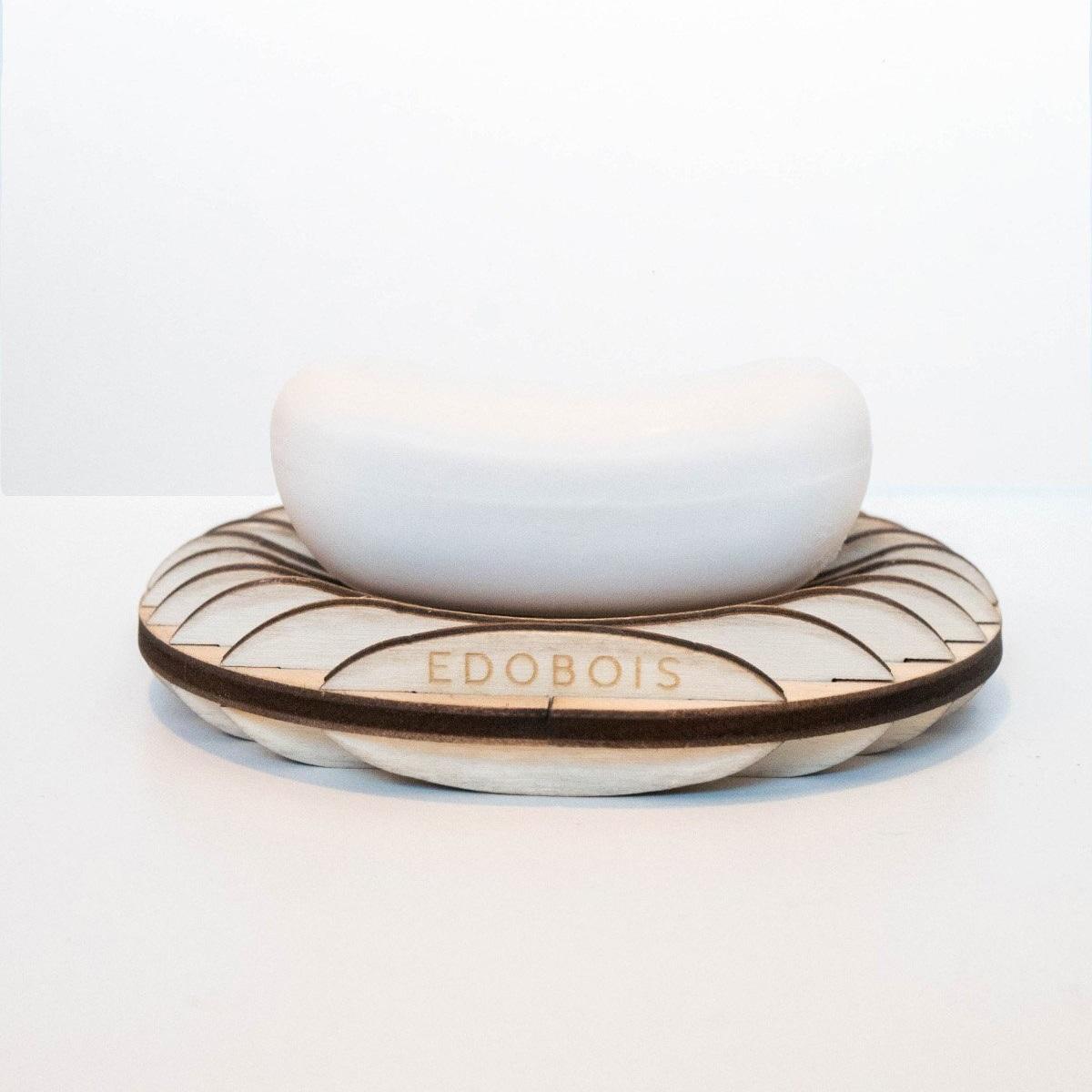 Porte-savon en bois artisanal - Edobois Délicat 4