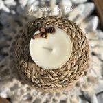 Bougie naturelle à la cire végétale - L'atelier du Petit Saule Au coin du feu