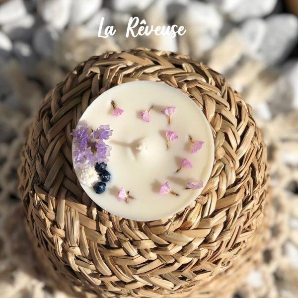 Bougie naturelle à la cire végétale - L'atelier du Petit Saule La Rêveuse