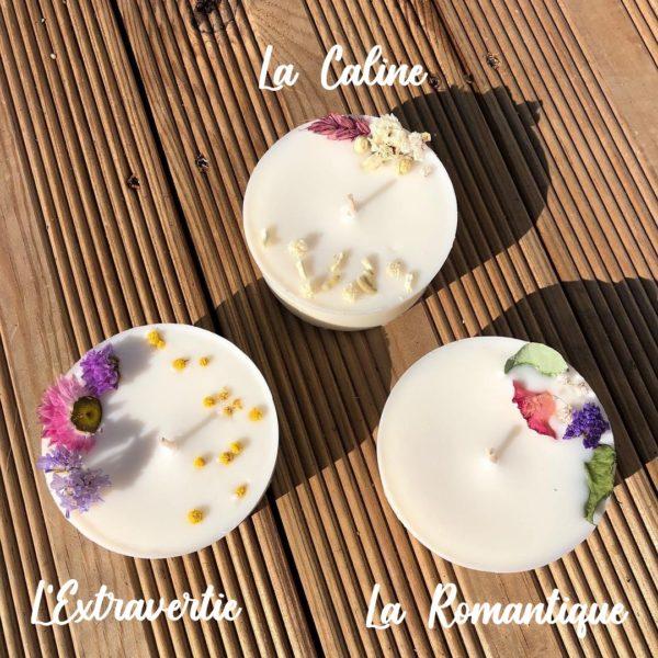 Bougie naturelle à la cire végétale - L'atelier du Petit Saule Romantique - Extravertie - Caline