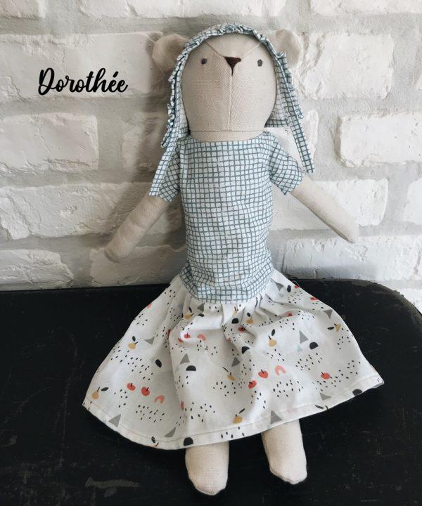 Poupée en tissu fait main Dorothée - Luna Room
