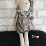 Poupée en tissu fait main George -Luna Room